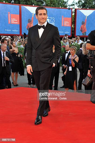 """Jake Gyllenhaal attends """"Nocturnal Animals' Premiere during the 73rd Venice Film Festival at on September 2, 2016 in Venice, Italy."""