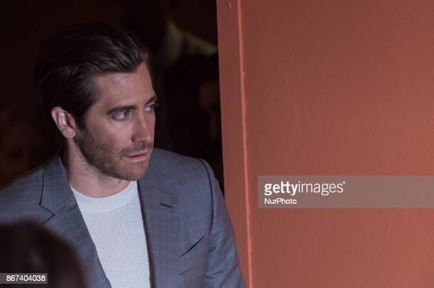 Jake Gyllenhaal attends photocall for 'Stronger' during the 12th Rome Cine Fest at Auditorium Parco Della Musica in Rome, Italy on 28 October 2017.