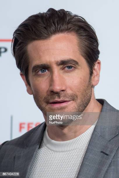 Jake Gyllenhaal attends photocall for 'Stronger' during the 12th Rome Cine Fest at Auditorium Parco Della Musica in Rome Italy on 28 October 2017