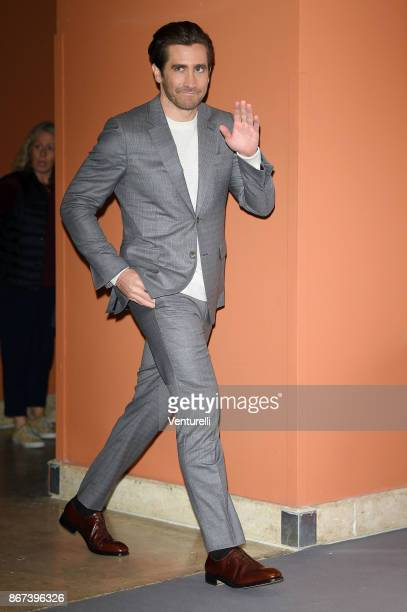 Jake Gyllenhaal attends 'Stronger' photocall during the 12th Rome Film Fest at Auditorium Parco Della Musica on October 28 2017 in Rome Italy