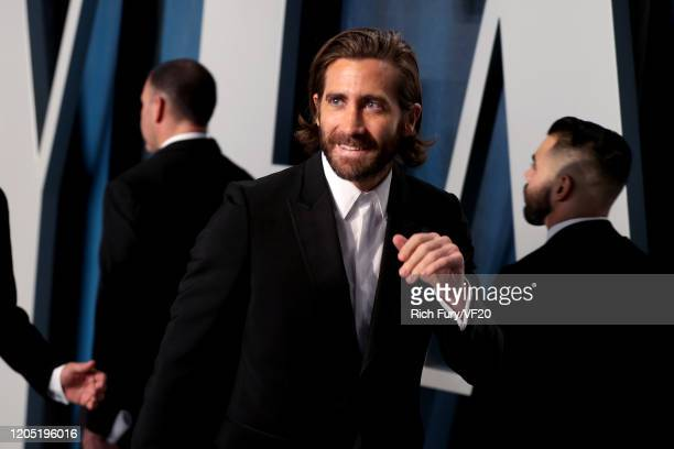 Jake Gyllenhaal attends the 2020 Vanity Fair Oscar Party hosted by Radhika Jones at Wallis Annenberg Center for the Performing Arts on February 09,...