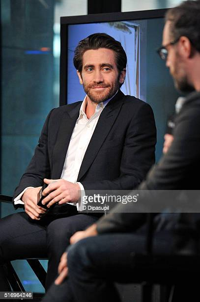 """Jake Gyllenhaal attends the AOL Build Speaker Series to discuss """"Demolition"""" at AOL Studios In New York on March 22, 2016 in New York City."""