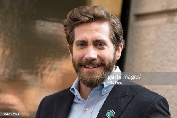 Jake Gyllenhaal attends the Hudson Theatre reopening ribbon cutting at Hudson Theatre on February 8 2017 in New York City