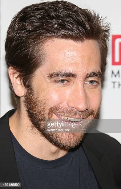 Jake Gyllenhaal attends the meet greet for the Manhattan Theatre Club production of 'Constellations' at the MCC Rehearsal Studios on November 18 2014...