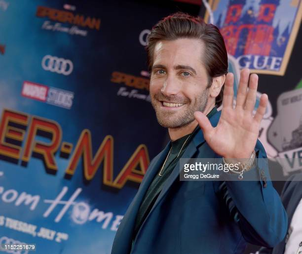 "Jake Gyllenhaal attends the premiere of Sony Pictures' ""Spider-Man Far From Home"" at TCL Chinese Theatre on June 26, 2019 in Hollywood, California."