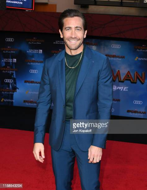 Jake Gyllenhaal attends the Premiere Of Sony Pictures' SpiderMan Far From Home at TCL Chinese Theatre on June 26 2019 in Hollywood California