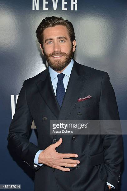 Jake Gyllenhaal attends the premiere of Universal Pictures' 'Everest' at TCL Chinese 6 Theatres on September 9 2015 in Hollywood California