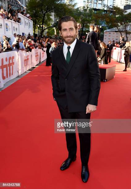 Jake Gyllenhaal attends the 'Stronger' premiere during the 2017 Toronto International Film Festival at Roy Thomson Hall on September 8 2017 in...