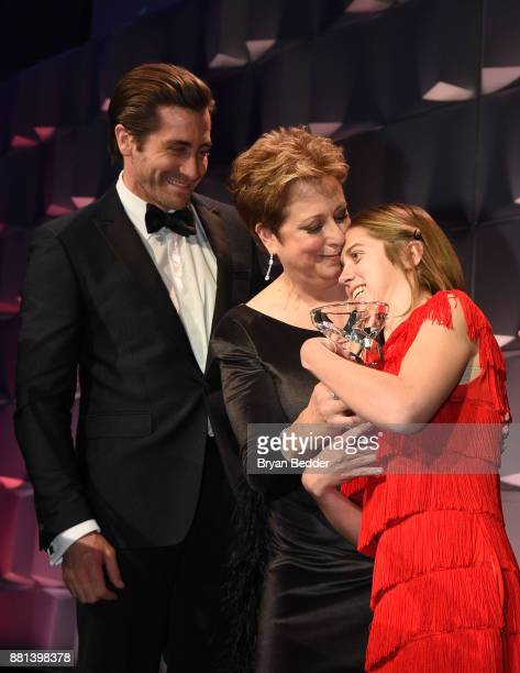 Jake Gyllenhaal CEO President UNICEF USA Caryl M Stern and honoree Lucy Meyer attend 13th Annual UNICEF Snowflake Ball 2017 at Cipriani Wall Street...