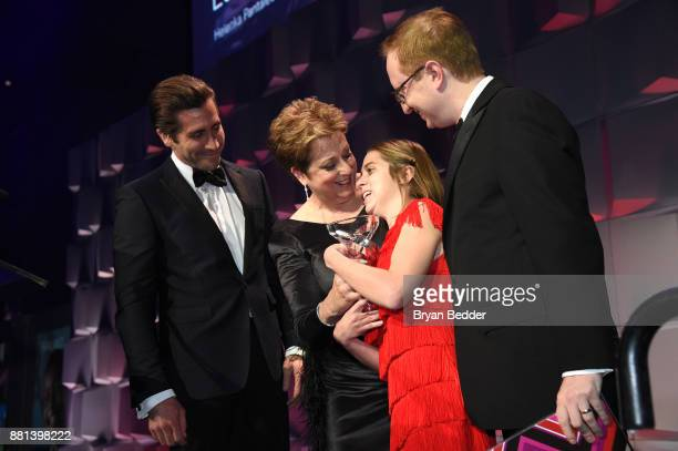 Jake Gyllenhaal CEO President UNICEF USA Caryl M Stern honoree Lucy Meyer and Andy Meyer attend 13th Annual UNICEF Snowflake Ball 2017 at Cipriani...