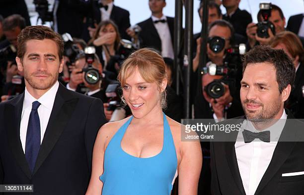 Jake Gyllenhaal Chloe Sevigny and Mark Ruffalo during 2007 Cannes Film Festival 'Zodiac' Premiere at Palais de Festival in Cannes France