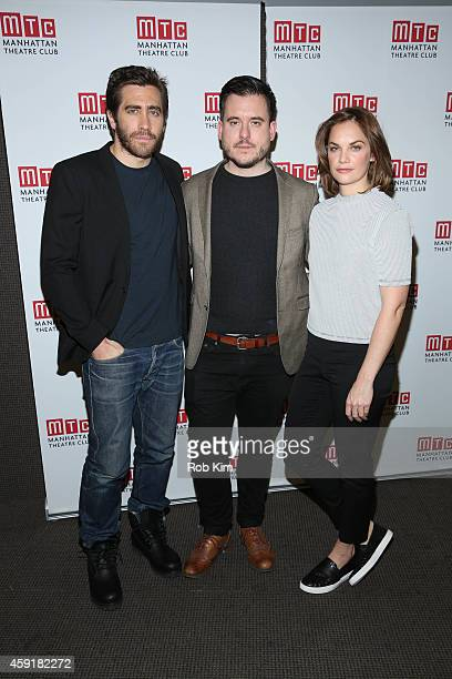 Jake Gyllenhaal Director Michael Longhurst and Ruth Wilson attend Constellations Press Preview at Manhattan Theatre Club Rehearsal Studios on...