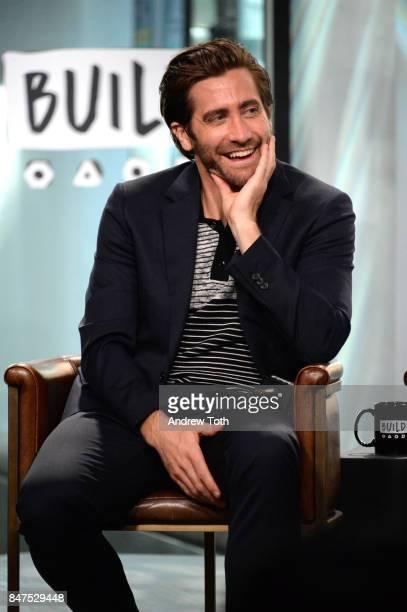 Jake Gyllenhaal discusses 'Stronger' at Build Studio on September 15 2017 in New York City