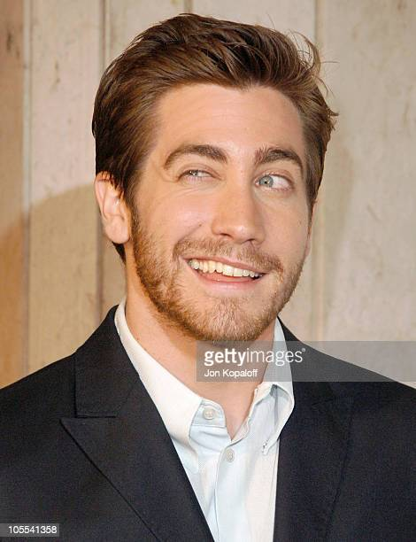 Jake Gyllenhaal during Focus Features' Brokeback Mountain Los Angeles Premiere Arrivals at Mann National Theatre in Westwood California United States