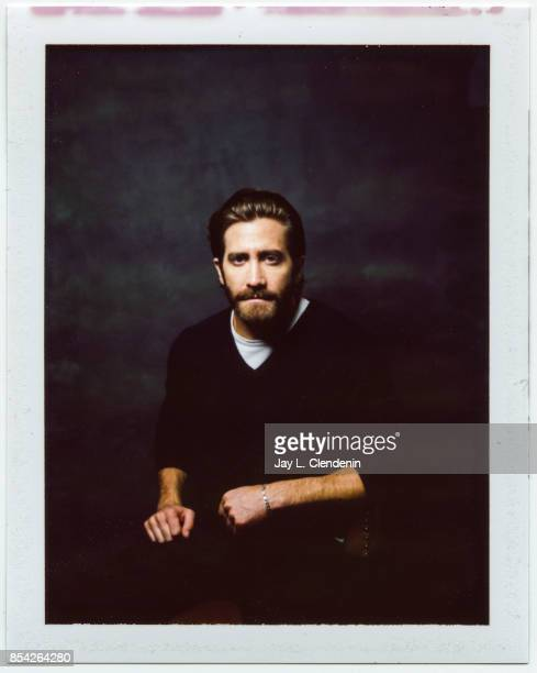 Jake Gyllenhaal from the film 'Stronger' is photographed on polaroid film at the LA Times HQ at the 42nd Toronto International Film Festival in...