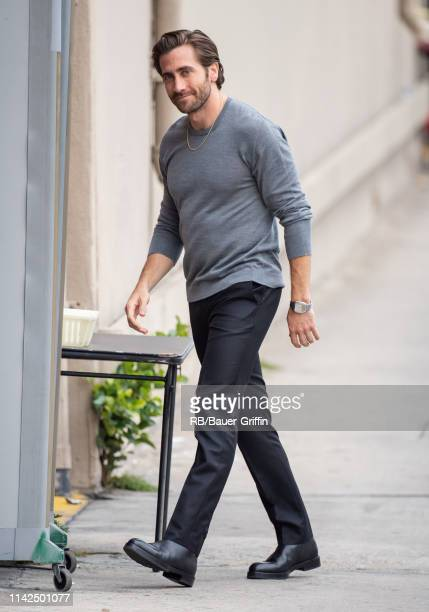 Jake Gyllenhaal is seen at 'Jimmy Kimmel Live' on May 09, 2019 in Los Angeles, California.