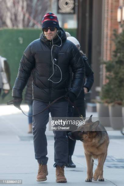 Jake Gyllenhaal is seen on March 05, 2019 in New York City.