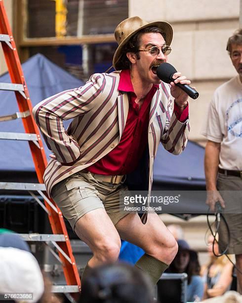 Jake Gyllenhaal is seen on set of Okja in Downtown on July 16 2016 in New York New York