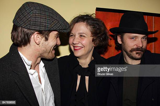Jake Gyllenhaal Maggie Gyllenhaal and Peter Sarsgaard attend the after party for the offbroadway opening night of Uncle Vanya at Pangea on February...