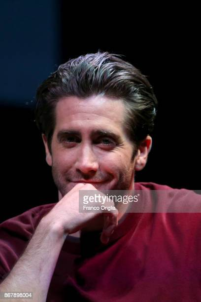 Jake Gyllenhaal meets the audience during the 12th Rome Film Fest at Auditorium Parco Della Musica on October 29 2017 in Rome Italy