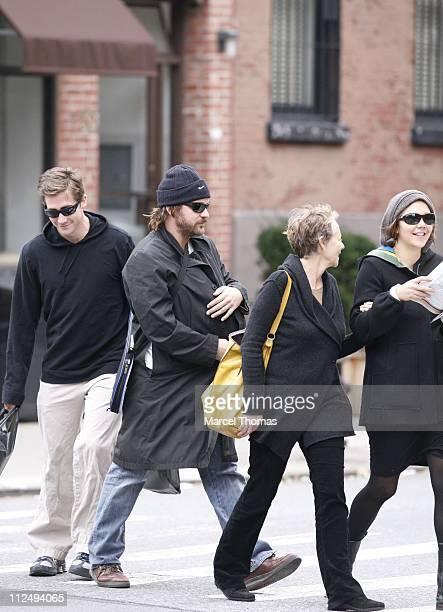 Jake Gyllenhaal Peter Sarsgaard with baby daughter Ramona Gyllenhaal Sarsgaard Naomi Foner and Maggie Gyllenhaal