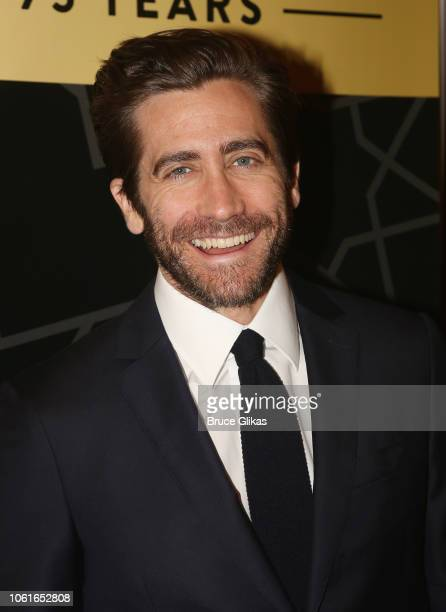 Jake Gyllenhaal poses at City Center's 75th Anniversary Gala Celebration performance of A Chorus Line at New York City Center on November 14 2018 in...