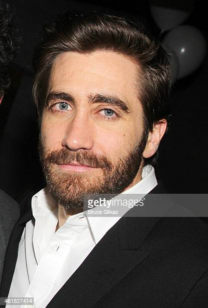 Jake Gyllenhaal poses at the Constellations Broadway Opening Night After Party at Urbo NYC on January 13 2015 in New York City