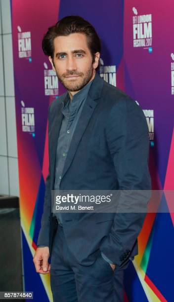 Jake Gyllenhaal poses during a Screen Talk at the 61st BFI London Film Festival on October 5 2017 in London England