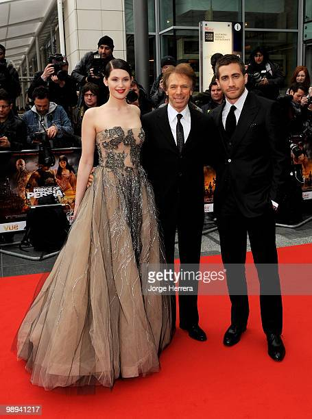 Jake Gyllenhaal , Producer Jerry Bruckheimer and Gemma Arterton attend the World Premiere of 'Prince of Persia: The Sands of Time' at the Vue...
