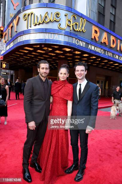 Jake Gyllenhaal, Ruth Wilson and Tom Sturridge attend the 73rd Annual Tony Awards at Radio City Music Hall on June 09, 2019 in New York City.