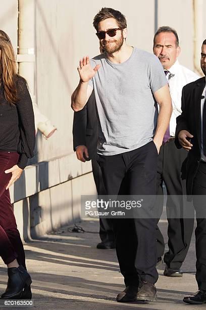 Jake Gyllenhaal seen at Jimmy Kimmel Live on November 01 2016 in Los Angeles California