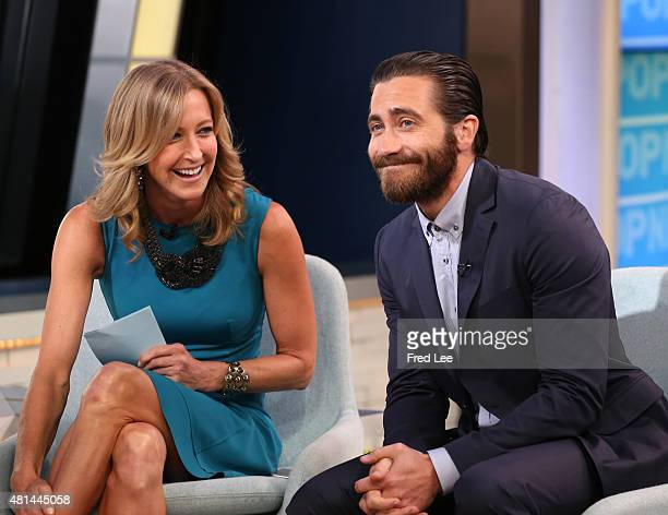 AMERICA Jake Gyllenhaal starring in the boxing movie Southpaw appears on GOOD MORNING AMERICA 7/20/15 airing on the Walt Disney Television via Getty...