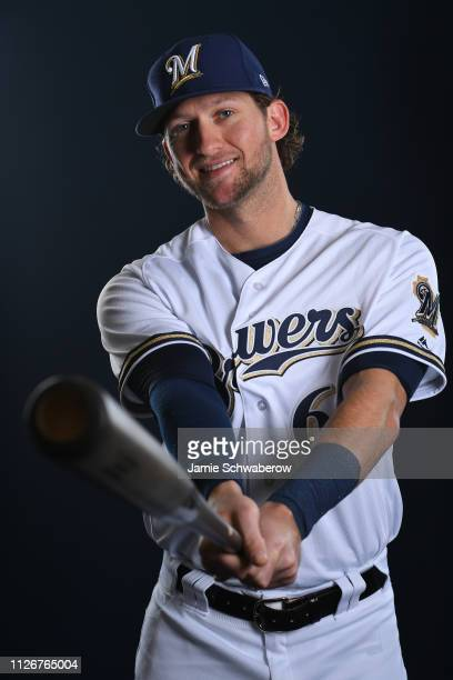 Jake Hager of the Milwaukee Brewers poses during the Brewers Photo Day on February 22 2019 in Maryvale Arizona