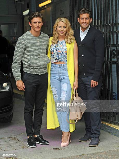Jake Hal Lydia Bright and James Argent attend The ITV Studios on June 12 2015 in London England