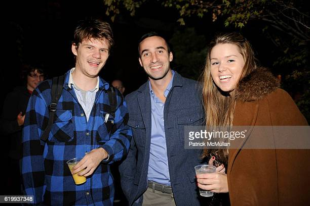 Jake Hanley, Ben Hayden and Mary Brouder Murphy attend HAPPY 21st BIRTHDAY LIAM MCMULLAN at Chelsea Hotel on October 6, 2008 in New York City.