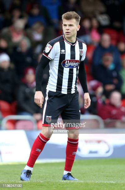 Jake Hessenthaler of Grimsby Town in action during the Sky Bet League Two match between Grimsby Town and Northampton Town at Blundell Park on March...