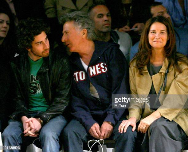 Jake Hoffman, Dustin Hoffman and Lisa Hoffman front row at Monarchy Collection Fall 2007
