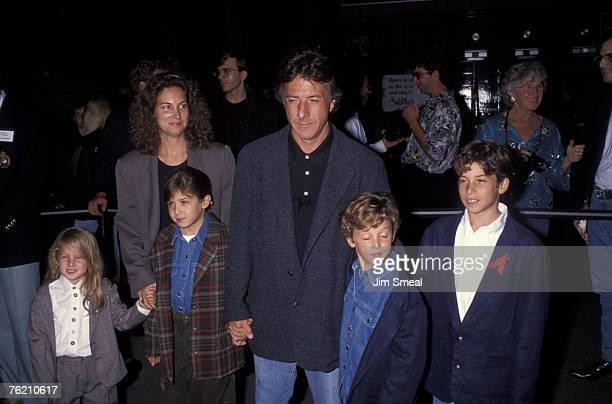 Jake Hoffman, Dustin Hoffman with wife Lisa and Ali Hoffman and Max Hoffman