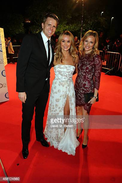 Jake Humphrey Amanda Holden and Harriet Humphrey attend Battersea Dogs Cats Home's Collars Coats Gala Ball at Battersea Evolution on October 30 2014...