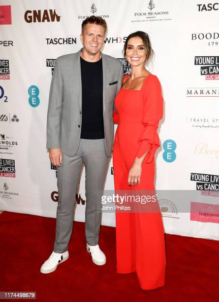 Jake Humphrey and Christine Lampard attend A Very British Affair Auction during London Fashion Week September 2019 at Claridge's Hotel on September...