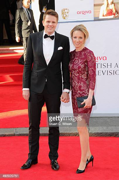 Jake Humphrey and Harriet Humphrey attend the Arqiva British Academy Television Awards at Theatre Royal on May 18 2014 in London England