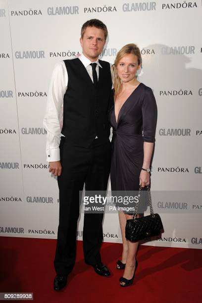 Jake Humphrey and wife Harriet Humphrey arriving at the 2011 Glamour Women of the Year Awards in Berkeley Square London