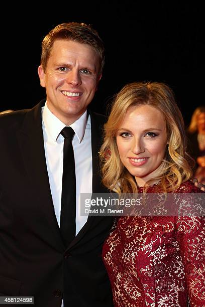 Jake Humphrey and wife Harrieta ttend Battersea Dogs Cats Home's Collars Coats Gala Ball at Battersea Evolution on October 30 2014 in London England