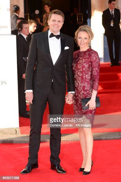 Jake Humprey and Harriet Humphrey arriving for the 2014 Arqiva British Academy Television Awards at the Theatre Royal Drury Lane London