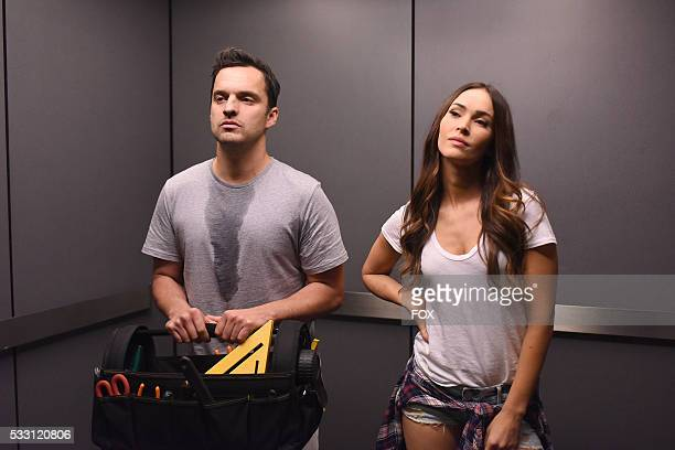 Jake Johnson and guest star Megan Fox in the 'Heat Wave' episode of NEW GIRL airing Tuesday March 1 on FOX