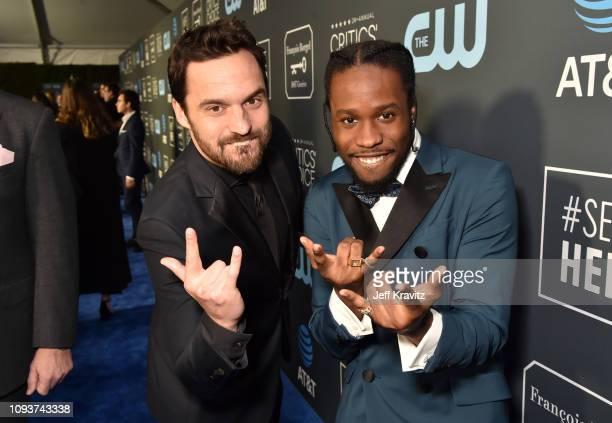 Jake Johnson and Shameik Moore at The 24th Annual Critics' Choice Awards at Barker Hangar on January 13 2019 in Santa Monica California