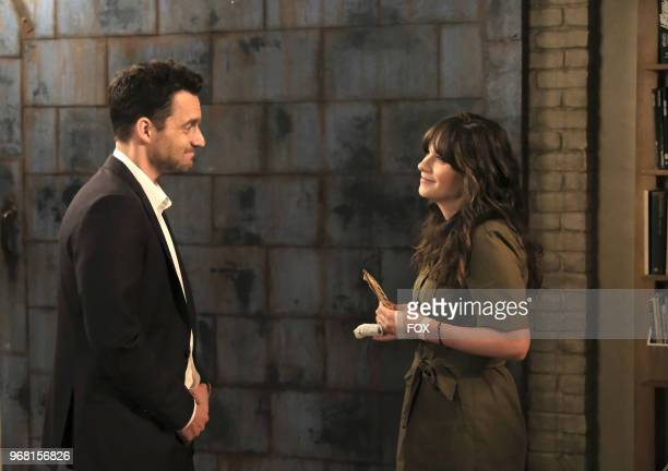 """Jake Johnson and Zooey Deschanel in the """"About Three Years Later"""" season seven premiere episode of NEW GIRL airing Tuesday, April10 on FOX."""