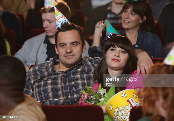 """Jake Johnson and Zooey Deschanel in the """"Birthday"""" episode of NEW GIRL airing Tuesday, Jan. 21, 2014 on FOX."""