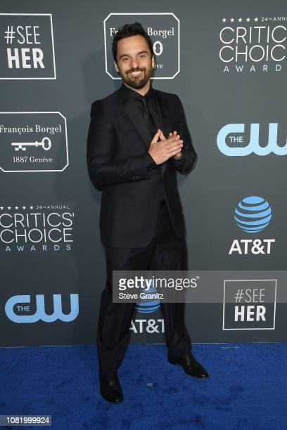 Jake Johnson attends the 24th annual Critics' Choice Awards at Barker Hangar on January 13 2019 in Santa Monica California