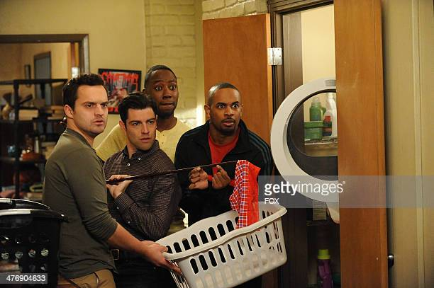 """Jake Johnson, Max Greenfield, Lamorne Morris and Damon Wayans, Jr. In the """"Prince"""" episode of NEW GIRL airing Sunday, Feb. 2 immediately after FOX..."""